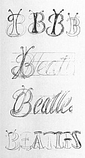 beatles-first-logo-sketches
